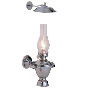 Chrome Atlantic Gimbal Lamp w/Smoke Bell