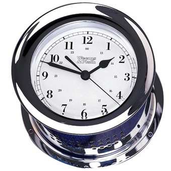 Chrome Plated Atlantis Quartz Clock