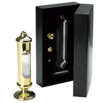 Weems Brass Stormglass in Black Gift Box
